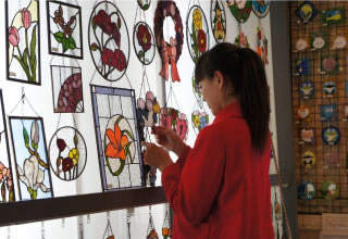 Yufuin stained glass art museum
