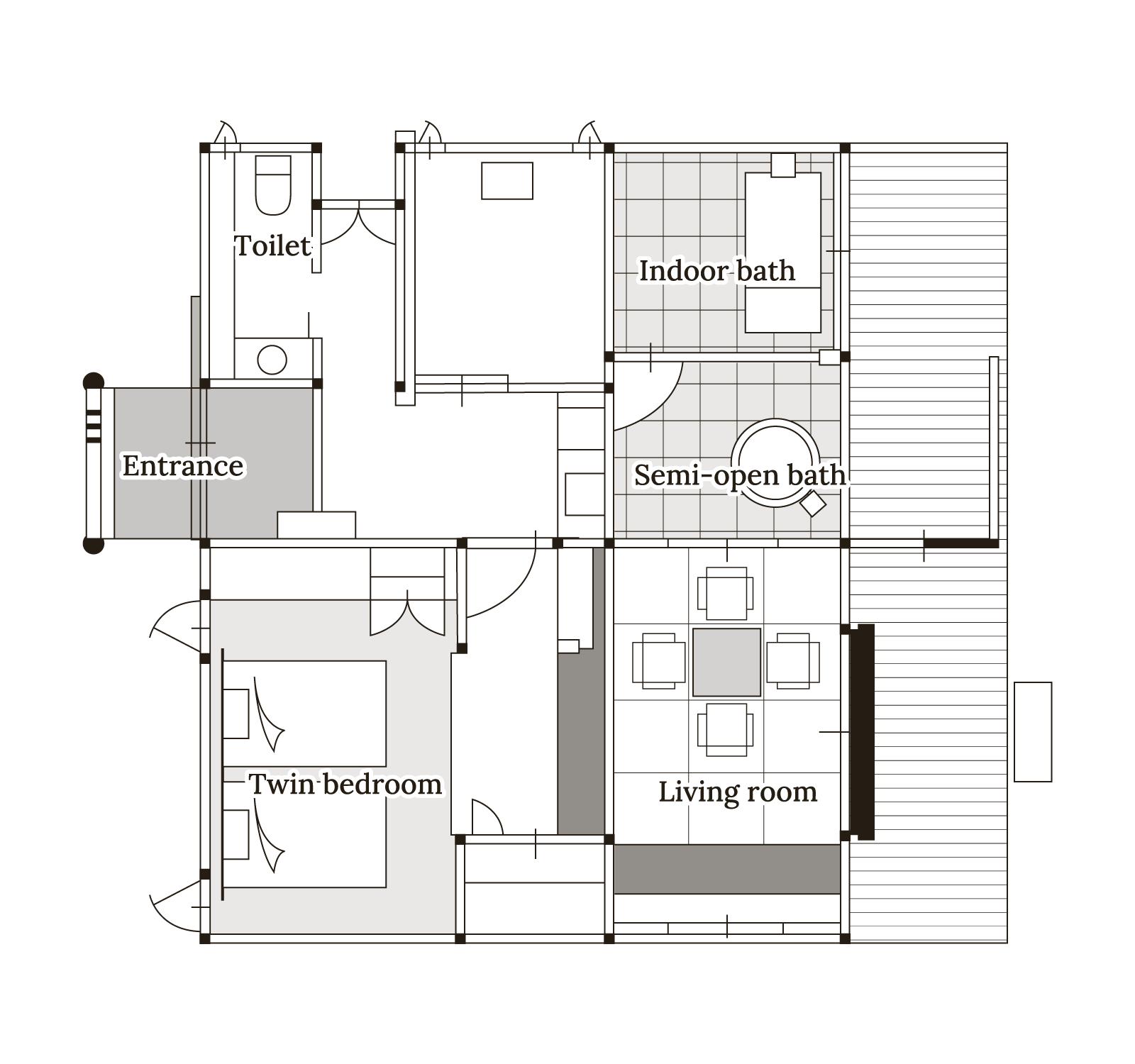 山茶花 Floor map