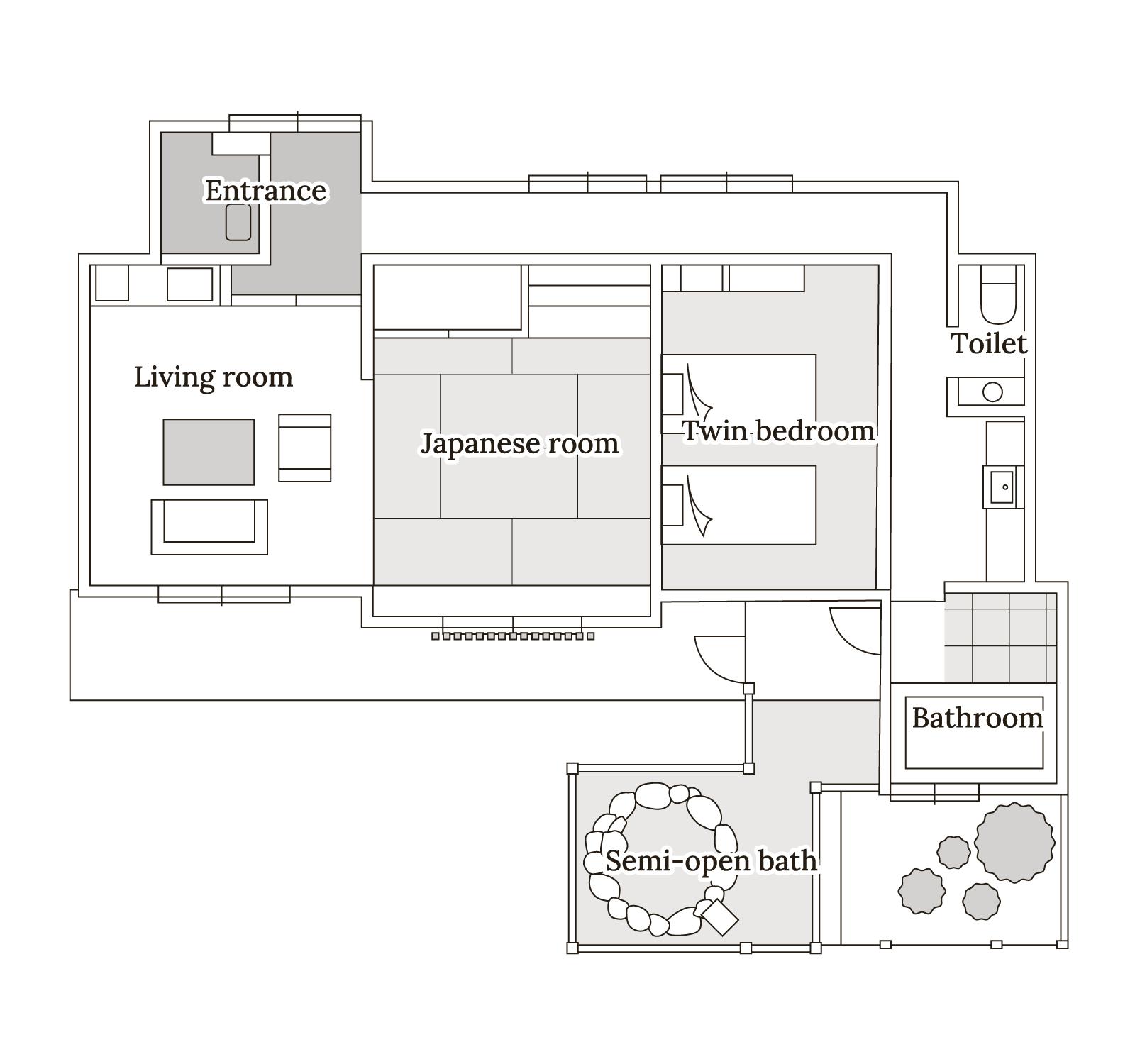 椿 Floor map