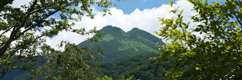 ลืมความวุ่นวายจากโลกภายนอกและใช้เวลาแห่งความสุขที่ฐานของภูเขายูฟุอันยิ่งใหญ่ตระการตา
